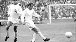 Semi final: Billy Bremner led a highly rated Leeds side.