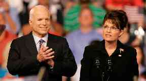 End: John McCain's presidential running mate Sarah Palin is not expected to take part in the ceremony.