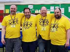 Dave is launching the convention alongside event organisers Duncan, John and Simon.
