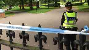 Kelvingrove Park: Area was cordoned off while officers investigated.