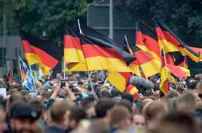 Far-right protesters have been marching in Chemnitz