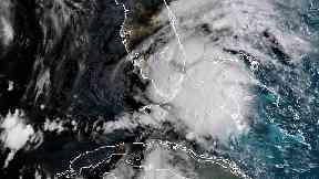 Tropical Storm Gordon appears south of Florida (NOAA via AP)