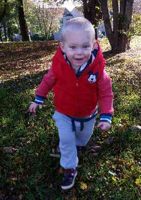This is McKenzie before he became unwell as a result of the Enterovirus D68