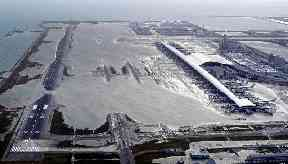 Kansai International Airport was left under water