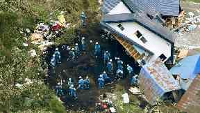 Damage in Atsuma town, Hokkaido.