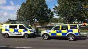 Police: Man pronounced dead at scene.