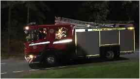School blaze: 50 firefighters in attendance.