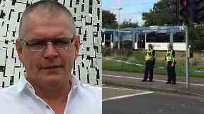 Death: Man struck by tram named.