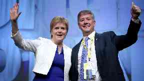 Independence push: Nicola Sturgeon and Keith Brown.