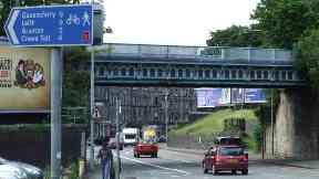 Roseburn Bridge: The man chased her on foot.