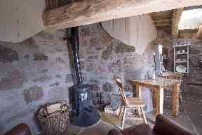 Log burning stoves provide extra warmth.