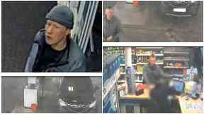 CCTV: A pensioner was robbed.