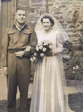 Sheila and husband Albert on their wedding day