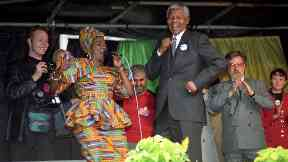 Politics: Mandela delighted the adoring audience with his dancing.
