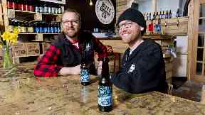 Beer: Aidan Canavan and Simon Tardivel are cutting down on bread waste.