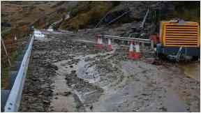 Reopened: Old Military Road was closed last week.