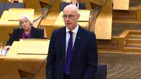 John Swinney: Advance payments will be made to elderly survivors.