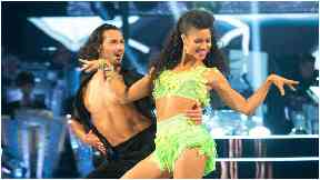 Dance-off: Radio presenter Vick Hope was eliminated on Sunday.