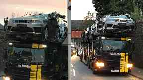 Luxury Cars Wrecked After Lorry Driver Smashes Into Bridge