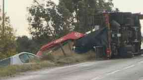 Fatal: The recovery vehicle toppled over.