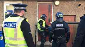 Raids: Drugs crackdown in Dundee.