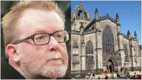 Mystery Man: Was discovered collapsed at St Giles Cathedral.