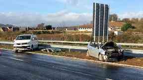 Crash: The incident occured around 9.30am.