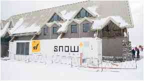 Snowfactory: The innovative technology can produce snow regardless of air temperature.