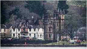 Cameron House Hotel: Devastated by fire.