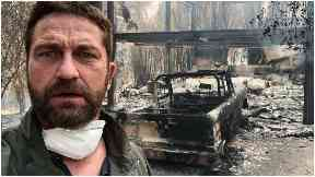 Devastation: Gerard Butler reveals the aftermath of the fire.