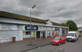Raid: The thief targeted the McColl Ltd store.