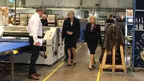 Scottish Leather Group: PM visited factory.