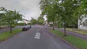Glasgow: The man struck in Athelstane Road.
