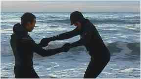 Surfing: Anne-Marie used to be scared of the water.