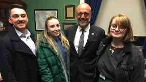 Jack, Ellie and Catherine met Congressman Ted Deutch