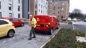 Posties are out in force across Aberdeen.