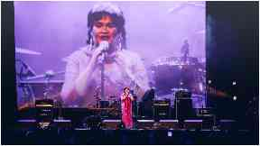 Superstar: Susan Boyle performed on the night.