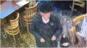CCTV: William was pictured in a pub in Leith.