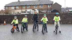 Children will be getting on their bike.