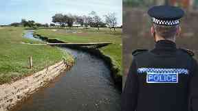 Barry Burn: Area was cordoned off by the police.