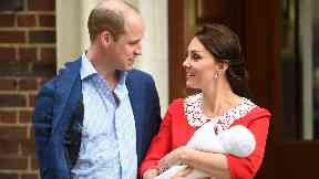 Baby: William and Kate welcomed Louis.