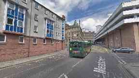 Dundee: A traffic cone was thrown from the car park.