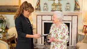Nicola Benedetti during a previous meeting with the Queen.