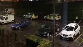 Drumchapel: Street cordoned off by police.