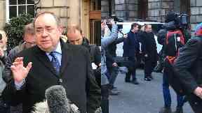 At court: Alex Salmond.