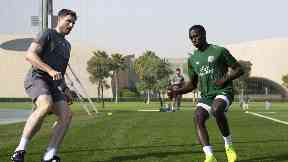 Test: Weah is put through his paces in Dubai.