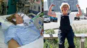 Hospital: Ms Hutton fought hard to survive.