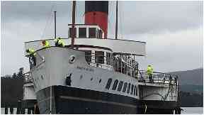 Paddle Steamer: The boat operated in Loch Lomond.