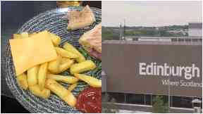 Disappointing: The meal was ordered at Edinburgh Airport.