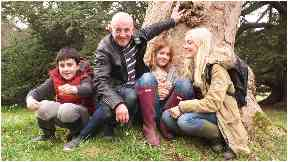 Roz before her diagnosis pictured with her family.